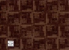 Flooring Sheet - Parquet Dark Wood dollhouse miniature paper floor 1pc RPPAR4