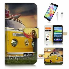 Samsung Galaxy ( S7 Edge ) Flip Wallet Case Cover P3350 Kombi Van