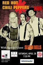 RED HOT CHILI PEPPERS / SLEIGH BELLS 2012 TORONTO, CANADA CONCERT TOUR POSTER