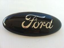 "9"" FORD-""BLACK Tailgate OR Grille Emblem,STICK ON,CUSTOM PAINT,DEALER PURCHASED"
