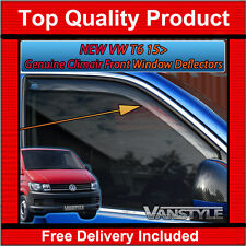 VW T6 2015  TRANSPORTER GENUINE CLIMAIR FRONT WIND DEFLECTORS TOP QUALITY TINT