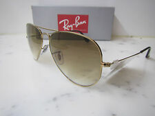 RAYBAN AVIATOR RB3025 001/51 Large 62mm Gold Sunglasses with Glass Brown lens