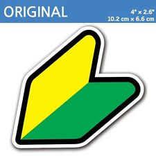 "4"" Original - JDM Wakaba Leaf Flag Decal Sticker Shoshinsha Mark Car Door Bumper"
