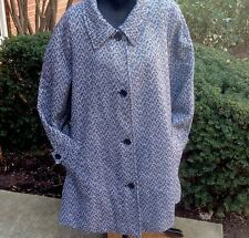 NEW WOMAN WITHIN PLUS SIZE COAT PARKA JACKET HERRINGBONE TWEED SIZE 26W