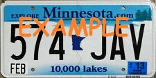 HO 1:87 MONSTER LICENSE PLATES -MODERN 2001+ MINNESOTA MODEL VEHICLE CARS TRUCKS
