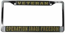 OPERATION IRAQI FREEDOM HIGH QUALITY METAL LICENSE PLATE FRAME - MADE IN THE USA