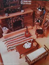 """Macrame Miniatures: 1"""" to 1' scale, patterns for dollhouse furnishings, see pics"""