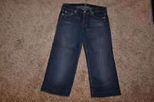 7 For all Mankind Dojo Cropped Jeans - Womens Sz 27