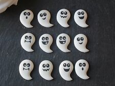 12 halloween sucre ghost cupcake toppers gâteau décoration