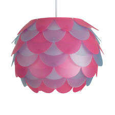 Contemporary Pink & Purple Ceiling Pendant Light Shade Bedroom Lampshade Home
