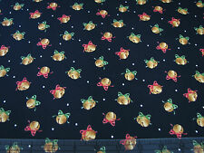 3 Yards Quilt Cotton Fabric- Maywood Christmas Classics Christmas Bells on Black