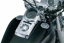 Kuryakyn Chrome Dash Panel Cover Die Cast Sculpted Harley Softail Dyna 1993-2017