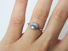 Anello Shell-Argento Sterling Anello-Anello di impilamento-jewelry-PRESENTE-Regalo 925
