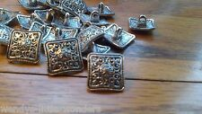 Job Lot 30 Tibetan Silver Square Shank Buttons 14mm More Available