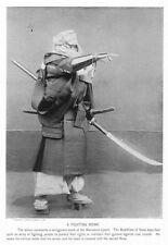 Japanese Buddhist Fighting Monk Old Japan Samurai Sword 7x5 Inch Reprint Photo
