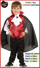 Toddler Boy VAMPIRE Dracula COSTUME Halloween Party Chest 54cm Height 80-92cm