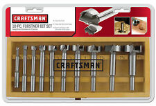 Craftsman 10pc Forstner Bit Set Free Shipping New