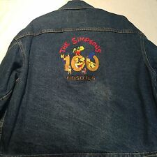 The Simpsons 100 Episodes International Denim Mens Sz XL Blue Jean Jacket