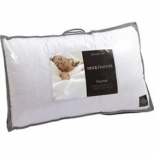 Pair Of Luxury Duck Feather Pillows with 85% Feather 15% Down 100% Cotton Cover