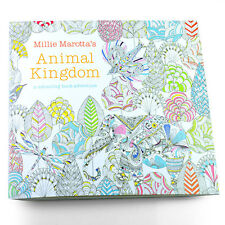 C8 US Children Adult English Animal Kingdom Treasure Hunt Coloring Painting Book