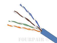 CAT6E CMP Plenum Ethernet Cable 550MHz Blue 1000FT (NO SPLINE) Copper, NOT CCA