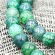 New 10mm Green Dragon Veins Agate Round Gemstone Loose Beads 15""