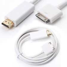 For Apple iPad 2 iPhone 4G 4S IPAD HDMI HDTV AV Digital Adapter Cable 1.8m