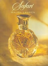 ▬► PUBLICITE ADVERTISING AD PARFUM PERFUME SAFARI Ralph Lauren page + carton