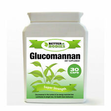 30 Glucomannan Max Konjac Fibre Diet Weight Loss Supplement Pills