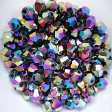 100 austrian crystal glass bobine biconique perles-multicolore - 4mm