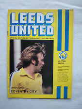 Orig.PRG   England  1.Division  1978/79   LEEDS UNITED AFC - COVENTRY CITY FC !!