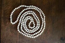 "Endless 58"" long genuine freshwater pearl necklace (7-8mm)"