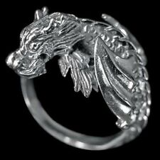 Anillo de plata-Flying Dragon - 925 Sterling plata tamaño: 22/62
