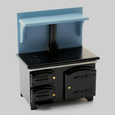 Dolls House Furniture: Kitchen Range : Oven / Cooker in blue/black : 12th scale