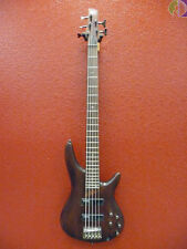 Ibanez Soundgear SR505 5-String Electric Bass Guitar, Brown Mahogany