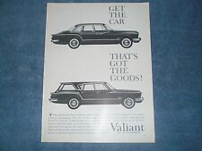 "1960 Plymouth Valiant Vintage Ad ""Get the Car That's Got The Goods!"" Wagon"