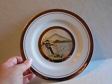 "The Art of Chokin Japan Asian Village Scene Plate 8 1/2"" Diameter"