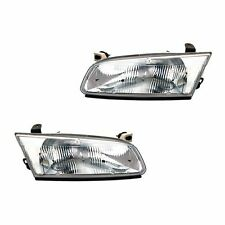 Fits 97-99 Toyota Camry Sedan Driver + Passenger Headlight Lamp Assembly 1 Pair