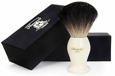 Pure Black Badger Hair Shaving Brush With the Ivory Color Base. NEWLY DESIGNED