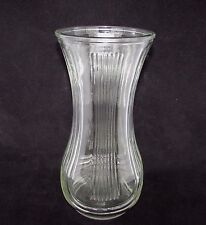 "Vintage Hoosier Clear Glass Vase Ribbed Flared 4087-B 23A  9 3/4"" Tall"