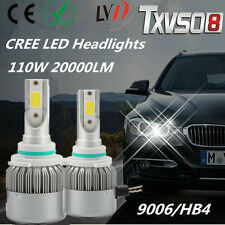 110W 9006/HB4 LED CREE Phare Auto Ampoule Lampe 20000LM Headlight Blanc 6000K