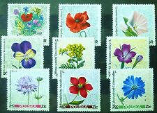 POLAND STAMPS MNH 2Fi1634-42 Sc1522-30 Mi1781-89 - Wildflowers- 1967, clean