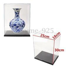 Transparent Acrylic Display Show Box Case Dustproof Tray Protection 10'' / 30cm