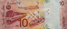 RM10 Zeti sign Low Number Note NY 0000279