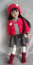 """Handknitted outfit for 13""""dolls Dianna Effner Little Darling,Betsy McCall,MARU"""