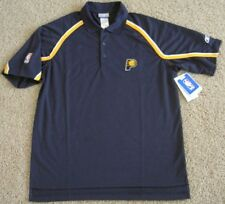 REEBOK PLAY DRY INDIANA PACERS COACHES TEAM POLO SHIRT LARGE LG L 2nd season NBA