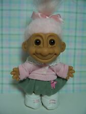 "FIFTIES GIRL IN POODLE SKIRT  - 5"" RUSS TROLL DOLL - NEW IN ORIGINAL WRAPPER"