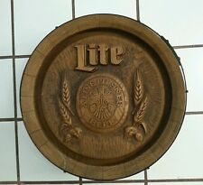 Vintage Miller Lite Pilsner Beer Advertising Plastic Barrel Keg Bar Sign