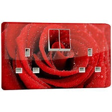 Red Rose Power Socket Outlet vinyl Sticker for Crabtree 4306 Double 2 Gang
