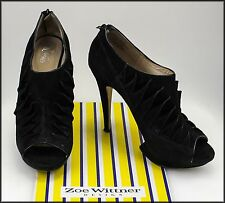 WITTNER WOMEN'S HIGH HEELS SUEDE OPEN-TOE FASHION SHOES SIZE 8.5 AUST 40 EURO